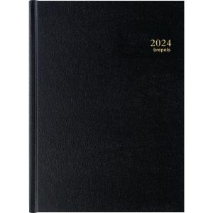 AGENDA JOURNALIER BREMAX -1  1 JOUR PAR PAGE COUVERTURE NOIRE 21 X 29 CM