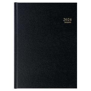 AGENDA JOURNALIER DE BUREAU BREMAX 21X29CM 1 JOUR SUR 2 PAGES NOIR