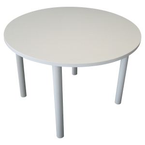 Table ronde - pieds tubes - ⌀ 120 cm - blanche