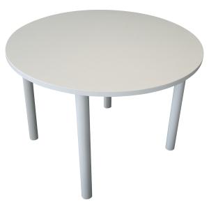 TABLE DE REUNION RONDE 4 PIEDS Ø 120 CM BLANCHE