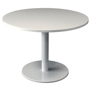 TABLE DE REUNION RONDE PIED TULIPE Ø 100 CM BLANCHE