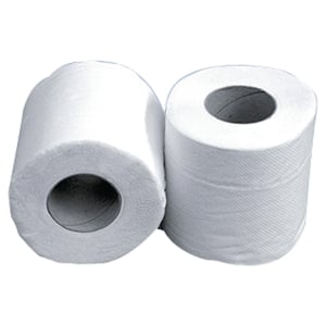 Paquet de 24 rouleaux de 150 feuilles de papier toilette 2 plis