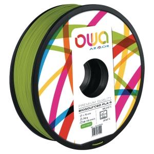 FILAMENT 3D PLA OWA 1,75MM 750 GRAMMES VERT