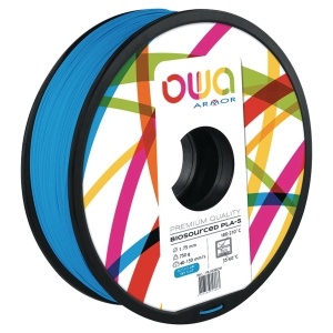 Filament d impression 3D Owa - PLA-S - 1,75 mm - 750 g - bleu ciel