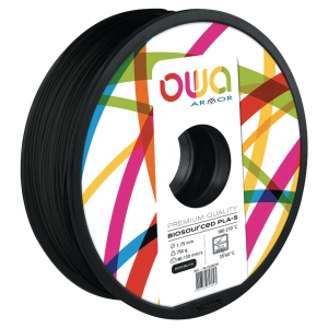 Filament d impression 3D Owa - PLA-S - 1,75 mm - 750 g - noir