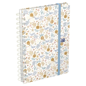 Agenda Oxford Flowers - semainier - 15 x 21 cm - turquoise