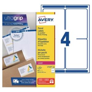 Etiquette expédition Avery - L7169-100 - 99,1 x 139 mm - blanche - lot de 400