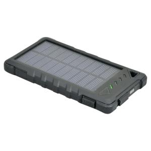 Batterie de secours solaire Port Connect - 8000 mAh - noire
