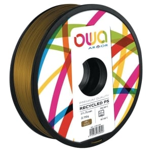 Filament d impression 3D Owa - PS - 1,75 mm - 750 g - or