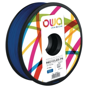Filament d impression 3D Owa - PS - 1,75 mm - 750 g - bleu