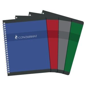 Cahier spirale integrale conquerant 70g 180 pages 17 x 22 cm quadrille 5x5 nf