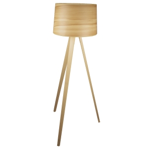 Lampadaire LED Essence en bois naturel
