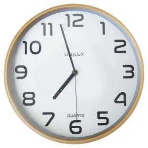 Horloge Unilux Baltic - silencieuse - Ø 30,5 cm - cadran bois