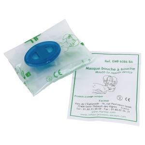 Masque bouche à bouche - avec valve anti-retour