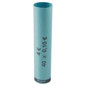 Tube à monnaie en papier préformé - 10 centimes d euro - paquet de 90
