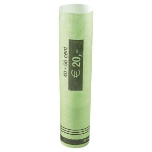 Tube à monnaie en papier préformé - 50 centimes d euro - paquet de 96