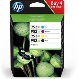 Cartouches d encre HP 953 XL - 3HZ52AE - noire + 3 couleurs
