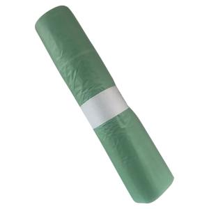Sac poubelle biodégradable - 50 L - 25 microns - vert - 200 sacs