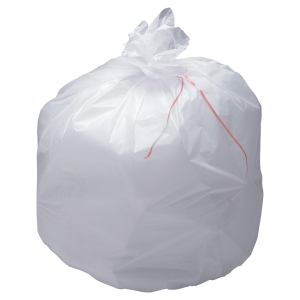 Sac poubelle économique - 20 L - 11 microns - blanc - 1000 sacs
