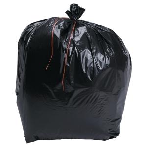Sac poubelle pour déchets lourds - 130 L - 64 microns - noir - 200 sacs
