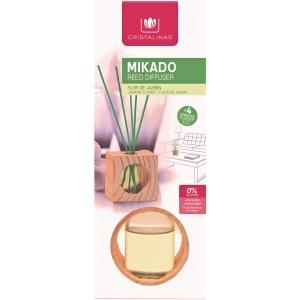 Diffuseur de parfum Cristalinas Mikado - jasmin - cube bois 30 ml