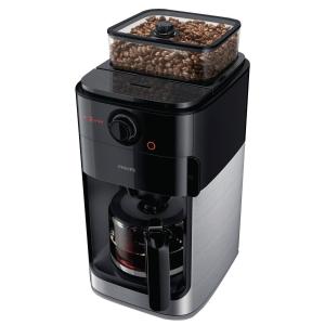 Cafetière Philips Grind & Brew - pour café en grains - noir/métal