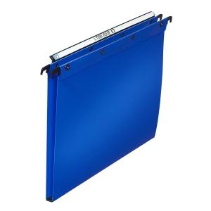 Dossier suspendu Elba - tiroirs - polypropylène 15 mm - bleu - boîte de 10