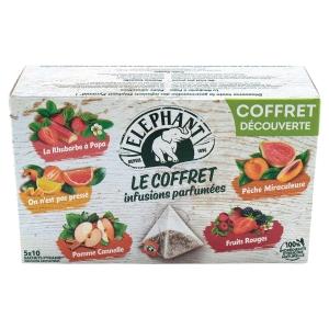 Infusion Eléphant - 5 variétés originales - coffret de 50 sachets pyramide