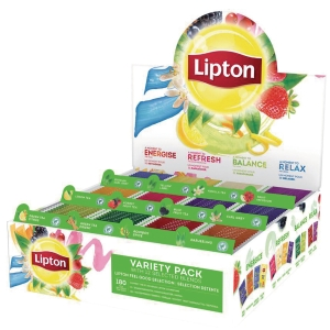 Thé et infusion Lipton Feel Good Selection - 12 variétés - 180 sachets fraîcheur
