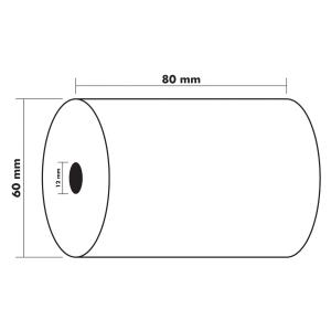Bobine thermique Exacompta - 1 pli - 80 x 60 x 12 mm - sans BPA - lot de 10