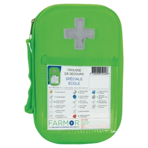 Trousse de secours « Ecole » - vert fluo