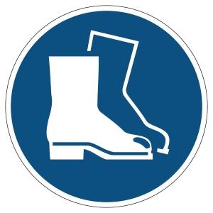 Pictogramme de marquage au sol - chaussures de sécurité obligatoire