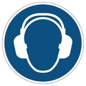 Pictogramme de marquage au sol - protection auditive obligatoire