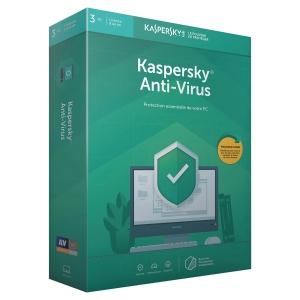 Licence anti virus 2019 Kaspersky 3 postes 1 an