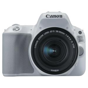 Reflex numérique Canon EOS 200D blanc et objectif 18-55mm