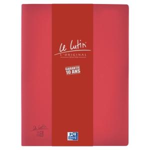 Protège-documents Elba Le Lutin - PVC opaque - 30 pochettes - bordeaux