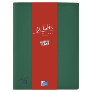 Protège-documents Elba Le Lutin - PVC opaque - 30 pochettes - vert