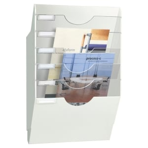 TRIEUR PRESENTOIR MURAL CEP 6 CASES/COMPARTIMENTS BLANC