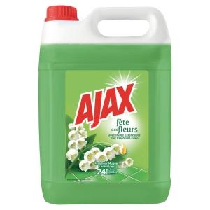 Bidon ajax fete des fleurs detergent multi usages  5 litres