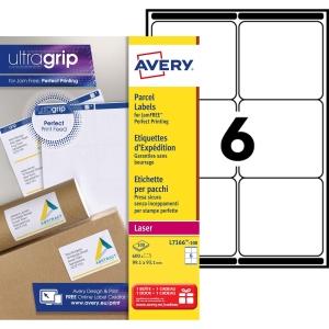 Etiquette expédition Avery - L7166-100 - 99,1 x 93,1 mm - blanche - lot de 600