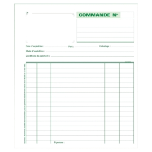 MANIFOLD COMMANDES NCR SANS CARBONE EXACOMPTA 18 X 21 CM N° 13103