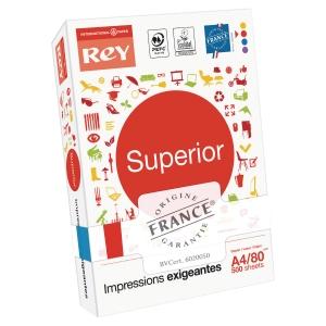 Ramette 500 feuilles papier superior document 80g A4 rey blanc pefc