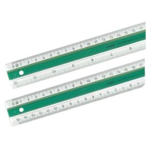 Règle plate double Linex - plastique - 50 cm