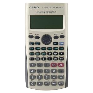 Calculatrice financière Casio FC 100V - 4 lignes - 12 chiffres - grise