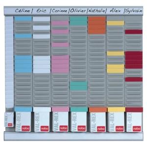 Planning Nobo Office Planner pour fiche T - 7 colonnes - 48 x 48 cm