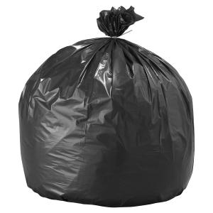 Carton de 100 sacs poubelles 130 litres noir pour dechets lourds