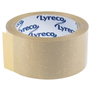 Lot 6 rubans adhésifs PVC Lyreco 50 mm x 66 m havane