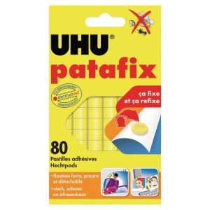 Etui 80 pastilles adhésives patafix uhu jaune