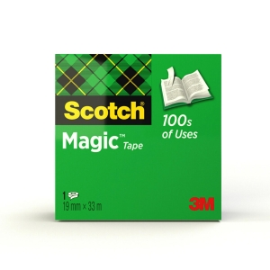 RUBAN ADHESIF SCOTCH MAGIC INVISIBLE 19 MM X 33 M