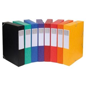 Boîte de classement Exacompta Cartobox - carte - dos 5 cm - assortis - par 10